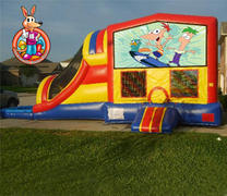 Phienas & Ferb Module 5 in 1 Waterslide Bouncehouse Combo